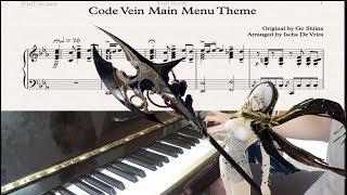 Code Vein - Main Menu Theme Piano Cover with Sheet Music