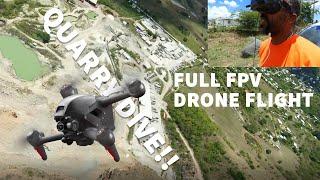 DAT VIVA GUY | DJI FPV DRONE | BENDALS QUARRY DIVE | FULL FPV FLIGHT 4K