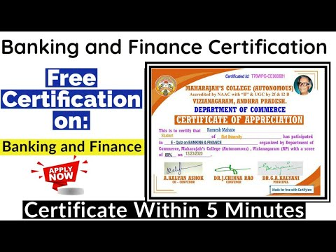 Banking and Finance Free Certification | Free Certificate Course ...