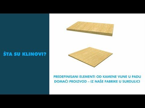 Rešavanje padova na ravnim krovovima - Klinovi od kamene vune (VIDEO)