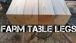 Farm table build homemade table legs