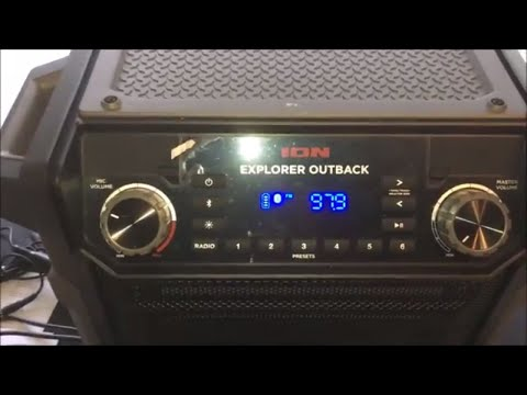 Review On The Ion Explorer Outback Player Portable Player Bluetooth For Tailgating