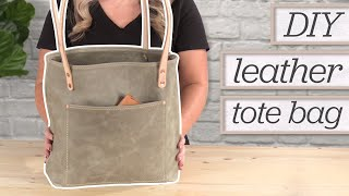 Making A Leather Tote Bag