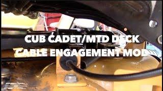 MTD Cub Cadet Yard Machines Riding Mower Deck Cable Mod | Flawed Design Fix | Advice