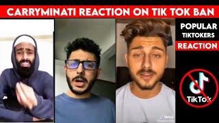 Carryminati Reaction on Tik Tok ban in India | Popular Tiktokers reaction on Tiktok ban in India