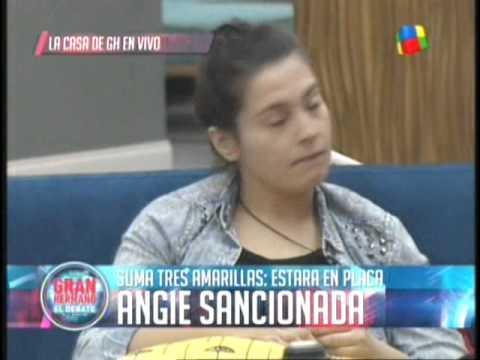 Angie sancionada ira a placa directa GH 2015 #GH2015 #GranHermano