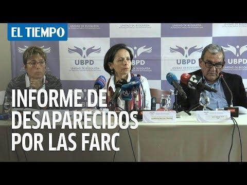 Farc entrega primer informe sobre 276 desaparecidos durante conflicto en Colombia