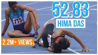 Hima Das wins women's 400M Final | Federation cup 2019 women's 400M finals |