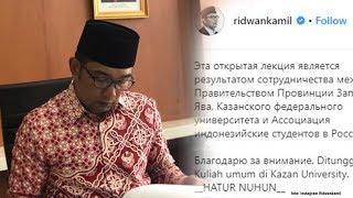 Ridwan Kamil Sampaikan Pesan Pakai Bahasa Rusia