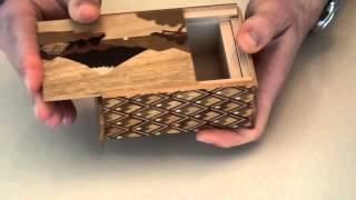 Rare 4-Sun 14 moves Japanese Puzzle Box!