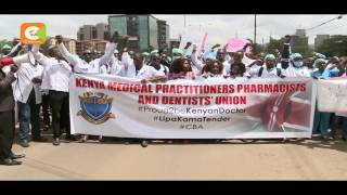 DOCTORS' STRIKE leaders found guilty of CONTEMPT