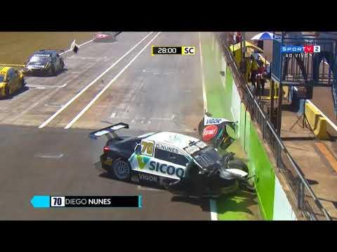 Stock Car Brasil 2018. Race 2 Autódromo Zilmar Beux de Cascavel. Diego Nunes Crash