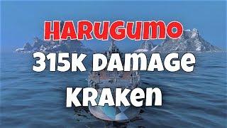 Harugumo T10 IJN DD | 315k Damage, 6 Kills | World Of Warships