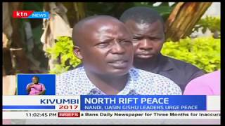 North rift leaders address the press over concerns that they might have ignited a low turnout