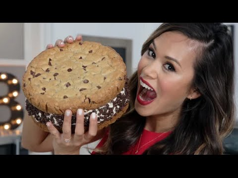 GIANT Chocolate Chip Cookie Ice Cream Sandwich | Eat the Trend