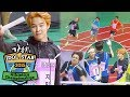 Lane One is SEVENTEEN... Lane Four is BTS!!! [2015 Idol Star Athletics Championships]