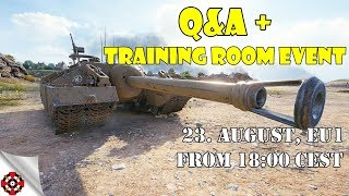 Q&A + Training Room Event! (World Of Tanks)