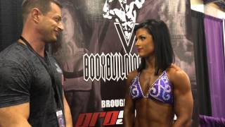 V Bodybuilding Show -  IFBB Pro Kelcie Gahley - Interview and Routine