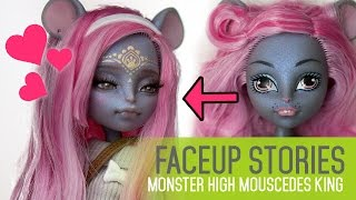 Repainting Dolls - MH Mouscedes King - Faceup Stories ep.41 - Video Youtube