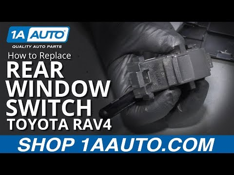 How to Replace Rear Window Switch 05-16 Toyota RAV4