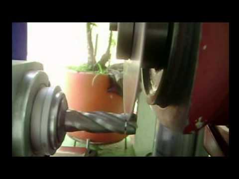 Corte y afilado de fresa punta plana