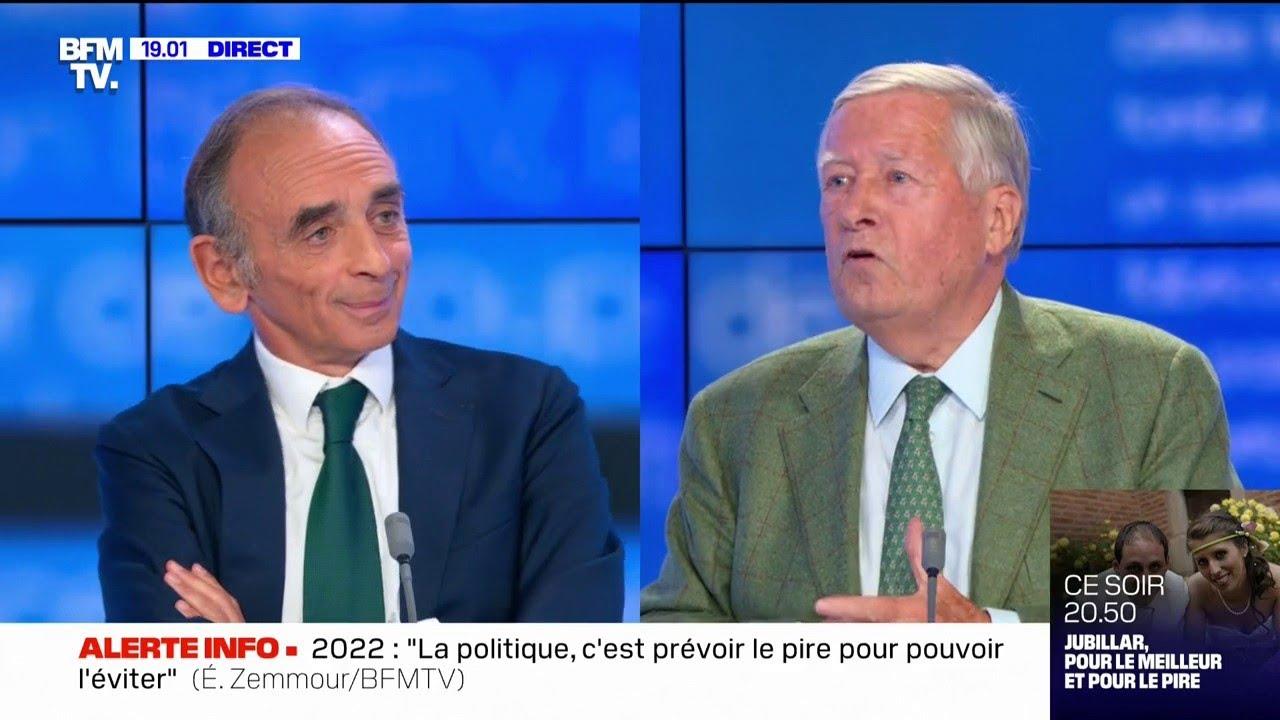 Éric Zemmour est face à Alain Duhamel