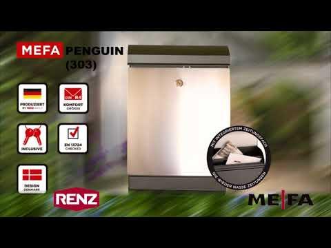 MEFA Penguin (303) Briefkasten mit Zeitungsrolle / Renz Briefkasten mit Zeitungsrolle