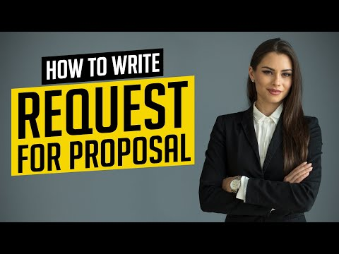 How to Write Request for Proposal (RFP) - YouTube