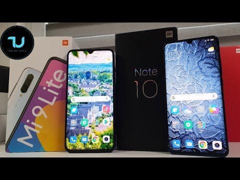 Xiaomi Mi Note 10 vs Xiaomi MI9 Lite Camera comparison/Screen/Size/Sound Speakers/Design! CC9 Pro