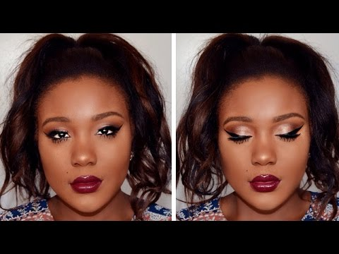 Bronze Holiday Makeup Tutorial 2015 // Smokey Cat Eye Makeup