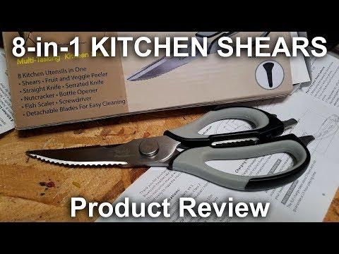 Introducing Multipurpose 8-in-1 Kitchen Scissors / Shears from Artful Homemaker