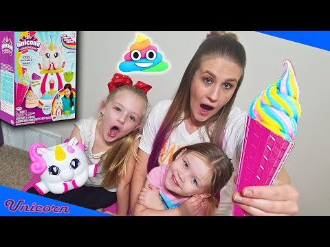 Unicone Ice Cream Maker – Unicorn Rainbow Swirl Maker Review Kids Unboxing