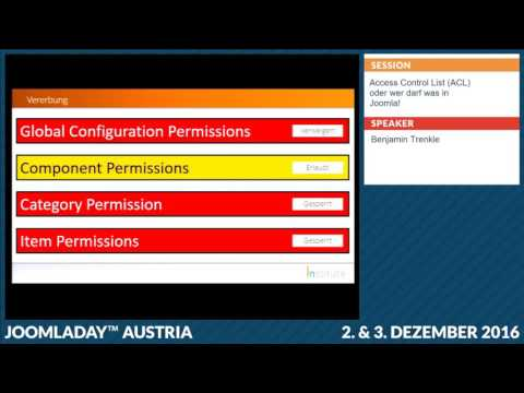 JD16AT - Access Control List (ACL) oder wer darf was in Joomla!
