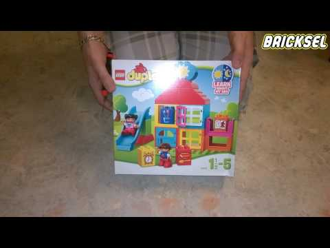 Распаковка LEGO DUPLO 10616 Мой первый домик (My First Playhouse unboxing set)