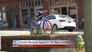 """Donoho Receives Award for """"Art Bikes Anniston"""""""