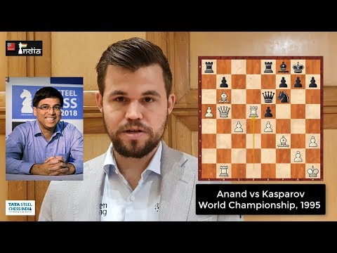 World Ches Champion Magnus Carlsen shows off his incredible memory when asked about positions in random games from one of his top opponents
