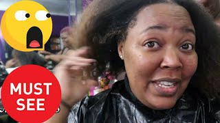Curly Perm/ Wave Nouveau On 4c Natural Hair 😱😱( Jheri Curl / Jerry Curl)