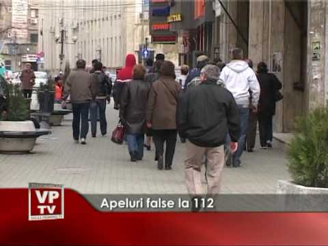 Apeluri false la 112