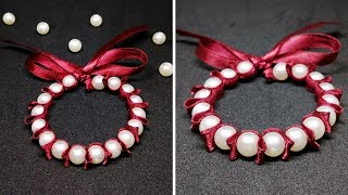 DIY- Ribbon And Pearl Bracelet | Friendship Bracelets | Jewelry Making | Craftastic