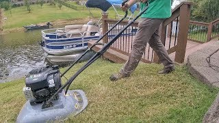 "California Trimmer RC190 Hover Mower in Action ""Lawn Care"""