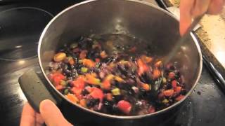 Vegetarian Black Bean Chili | Vegan Chili recipe