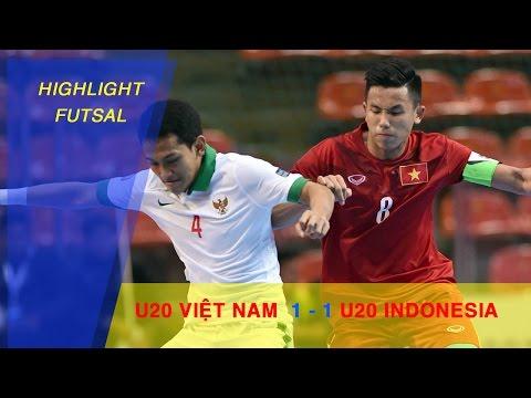U20 FUTSAL VIỆT NAM HOÀ ĐÁNG TIẾC TRƯỚC U20 FUTSAL INDONESIA