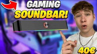 DIE BESTE RGB Soundbar für DEIN GAMING SETUP! 40€ Gaming Lautsprecher!