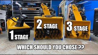 The Difference Between 1, 2 and 3 Stage Snow Blowers