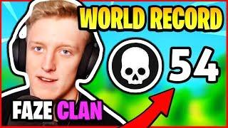 TFUE BREAKS KILL *WORLD RECORD* - 54 KILLS FAZE CLAN HIGHLIGHTS | Fortnite Battle Royale