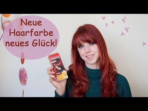 Haartönung von Schwarzkopf/ Granatrot