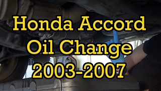 How to change spark plugs in 2003 2007 honda accord tune up most honda accord oil change 2004 24l i4 2003 2007 similar fandeluxe Choice Image