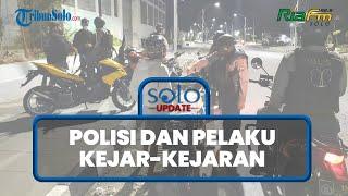 SOLO UPDATE: Razia Balap Liar di Solo, Polisi dan Pelaku Kejar-kejaran, 9 Motor Diamankan