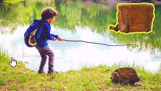 Boy Reels In Purse From Lake While Fishing, Finds A Familiar Face Inside