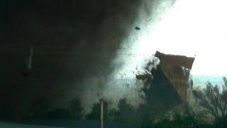 VIOLENT TORNADO WARNING - Flying Roof, House Destruction, Victims & Survivors